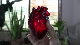 ساختن قلب شیشه ای با استفاده از رزین