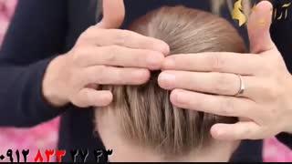 کلیپ آموزش بافت مو مدل تل + شینیون مو دخترانه
