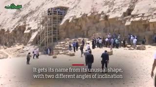 لحظه باز شدن در یکی از اهرام مصر پس از ۵۰ سال