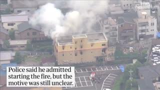 ویدیو آتشسوزی استودیو کیوتو انیمیشن Kyoto Animation