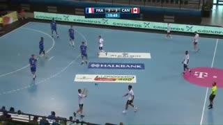 دیدار  تیم های ملی هندبال فرانسه و کانادا  در قهرمانی نوجوانان جهان2019