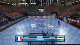 دیدار تیم های ملی هندبال فرانسه و مجارستان در قهرمانی نوجوانان جهان2019