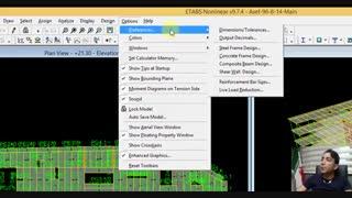 آموزش تغییر اندازه فونت در نرم افزار ایتبس | پک آموزش طراحی و محاسبات سازه | آموزش Etabs