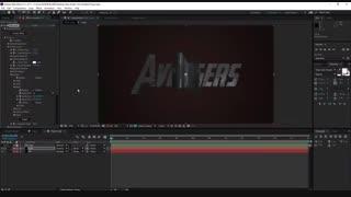 آموزش افترافکت : ساخت عنوان سه بعدی اونجرز Avengers