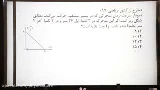 تدریس خصوصی فیزیک کنکور - حرکت شناسی