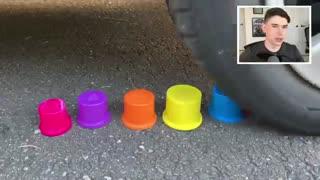 EXPERIMENT: CAR vs SOFT & CRUNCHY THINGS!