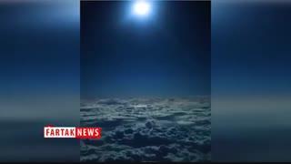 نمای زیبایی از آسمان خلیج فارس از لنز دوربین یک فضاپیما