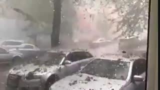 بارش سنگ از آسمان در رومانی