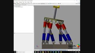 نگار پژوه :: طراحی و کنترل مکانیزمSTEWART