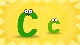 آموزش الفبای انگلیسی با شعر برای کودکان - حرف C