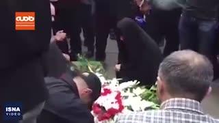 سخنرانی آذری جهرمی و عادل فردوسیپور در مراسم تشییع پیکر مرحوم مهدی شادمانی