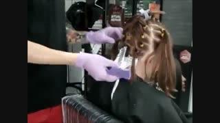 آموزش رنگ مو سامبره کاراملی- مومیس مشاور و مرجع تخصصی مو