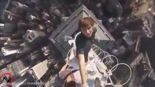 حرکات خطرناک وشگفت انگیز در ارتفاع