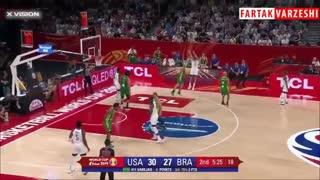 خلاصه بسکتبال آمریکا 89- 73 برزیل