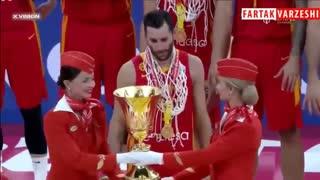 مراسم اهدای جام قهرمانی بسکتبال 2019 به تیم ملی اسپانیا