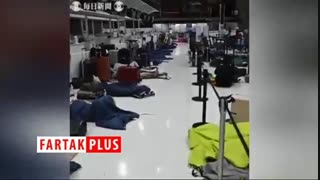 فرودگاهی که از صدای خروپف پر شد