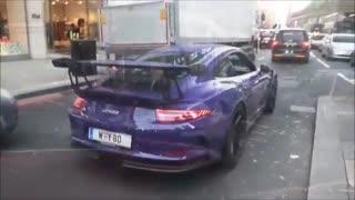 پورشه 911 جی.تی 3 در خیابان های لندن