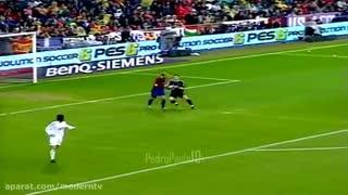 تمام حرکات مسی ورونالدینیو مقابل رئال مادرید فصل 2006-7