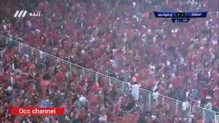 خلاصه بازی پرسپولیس 1 - استقلال 0 (دربی 90)