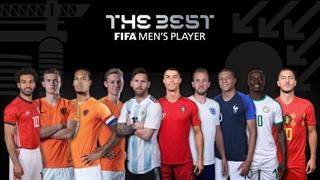 لحظه اعلام برندۀ جایزۀ مرد سال فوتبال جهان؛ 2019 THE BEST