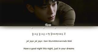 متن آهنگ Good Night از Chen