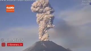 صحنه هایی از فوران کوه آتشفشان پوپوکاتپتل در مکزیک