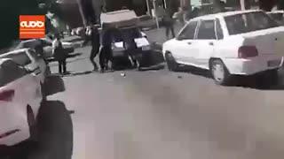 فرار عجیب از صحنه تصادف در مشهد