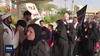 وضعیت تردد زائران اربعین در مرز خسروی