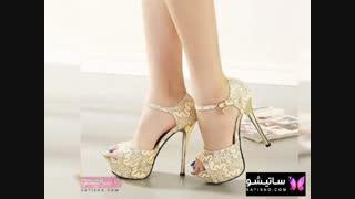 مدل کفش های مجلسی طلایی