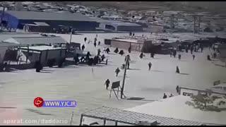 فرار زندانیان داعش پس از تخریب دیوارهای محل نگهداریشان توسط ترکیه