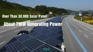 سبزترین جاده دنیا با پنل های خورشیدی - پارسیس انرژی سبز