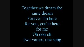 Two voices, one song - lyrics