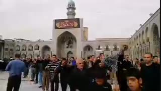 عزاداری زائران رضوی در آستانه شهادت امام رضا علیهالسلام