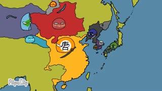 نمایش جالب نقشه تاریخی چین در گذر زمان به سبک نمایش کشورهای توپی